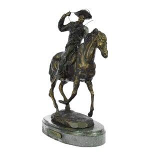 Cowboy Horse Bronze Sculpture For Sale
