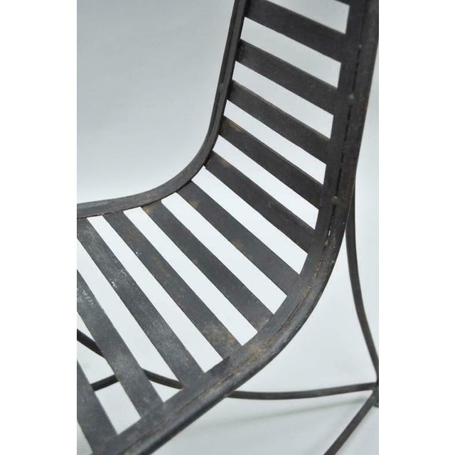 Vintage Whimsical Steel Iron Spine Lounge Chairs After André Dubreuil - A Pair For Sale In Philadelphia - Image 6 of 10