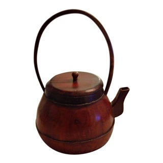 Antique Chinese Wood Teapot