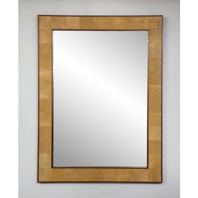 Rectangular shagreen mirror.