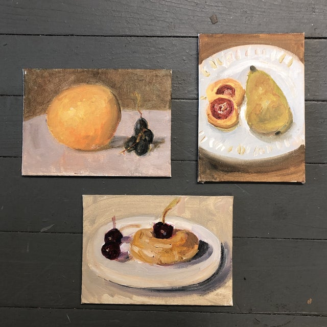 Gallery Wall Collection 3 Small Impressionist Still Life Paintings For Sale In Philadelphia - Image 6 of 6