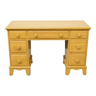 "Davis Cabinet Co. French Country Blonde 48"" Student Desk / Vanity For Sale"