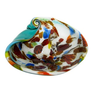 Mid-Century Modern Multi-Color Murano Art Glass Bowl For Sale
