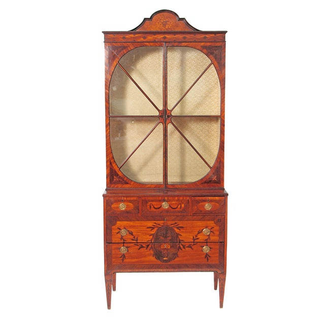 George III Satinwood and Inlaid Bookcase Attributed to Gillows For Sale - Image 13 of 13