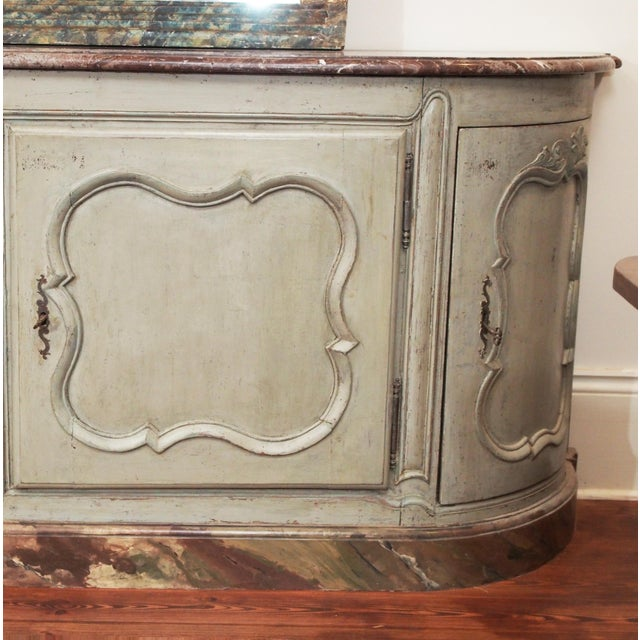 Louis XV Style Marble Top Buffet For Sale In New Orleans - Image 6 of 10