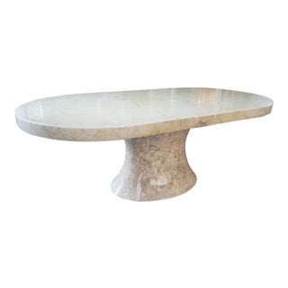 Muller of Mexico Onyx Racetrack Dining Table/ Desk For Sale