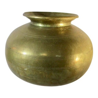 Large Cast Bronze Nepali Water Pot For Sale