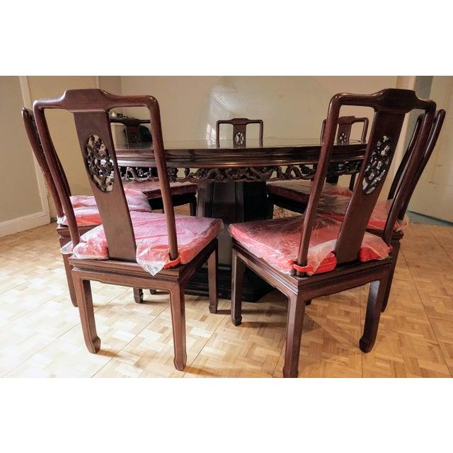 Large Asian Dining Set, Round - Image 10 of 10