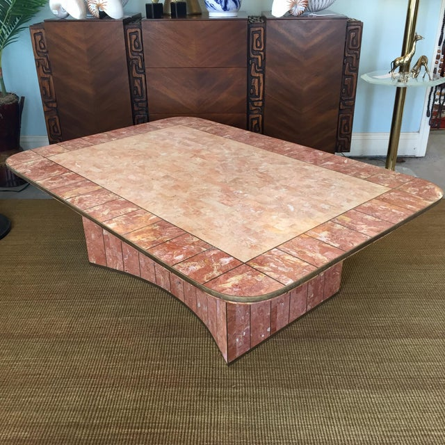 Pink Pink Tessellated Stone Coffee Table by Casa Bique For Sale - Image 8 of 8