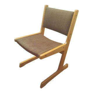 Gibson Mid-Century Modern Floating Chair in Brown For Sale
