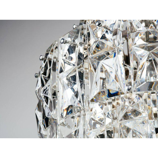 Exquisite German Mid Century Modern Faceted Crystal Chandelier For Image 5 Of 11