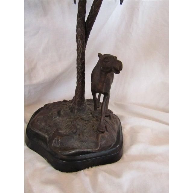 Camel & Palm Tree Pedestal Bowl For Sale - Image 4 of 7