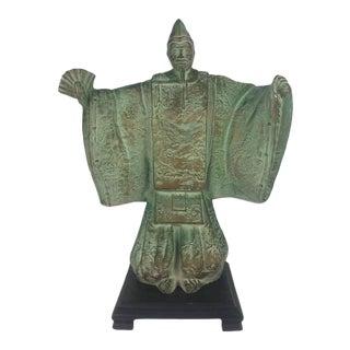 Japanese Bronze Noh Dancer Sculpture