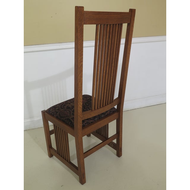 Stickley Mission Oak Arts & Crafts Dining Chairs- Set of 6 For Sale - Image 9 of 12