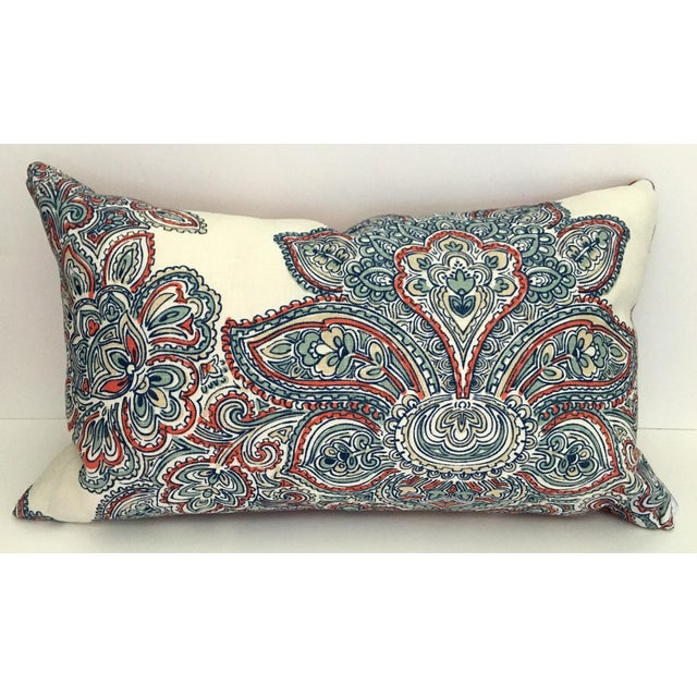 Modern Tie Dye Brocade Pillow For Sale - Image 4 of 4