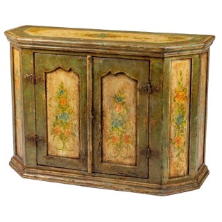 Antique Painted Italian Walnut Sideboard For Sale