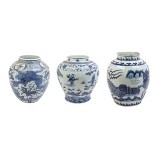 Collection of Three Chinese Export Blue and White of Large Scale For Sale