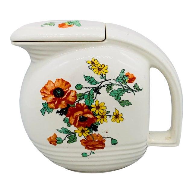 1940s Viktor Schreckengost Designed Floral Jiffy Ware Pitcher For Sale