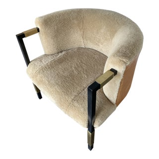 Shearling Larchmont Chair For Sale