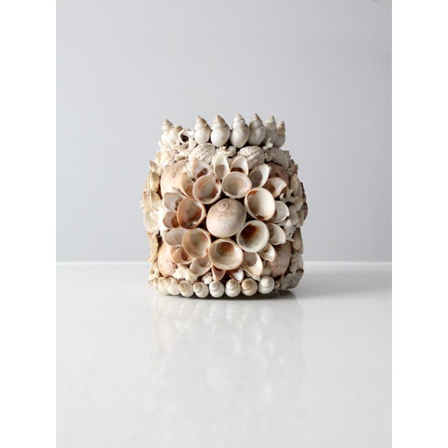 Vintage Seashell Vase For Sale - Image 4 of 12