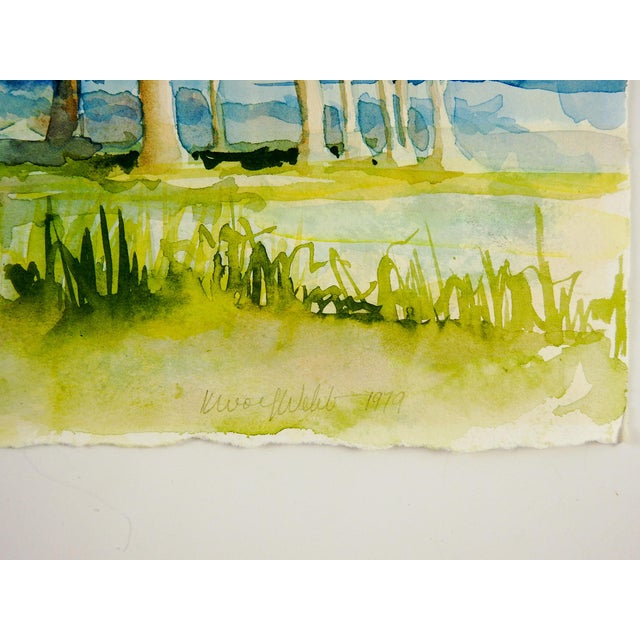 Contemporary Plein Air Watercolor Landscape Painting For Sale - Image 3 of 4