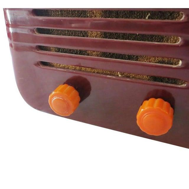 "Fada Model 1000 ""Bullet"" Coffee and Caramel Catalin Tube Radio - Image 3 of 10"