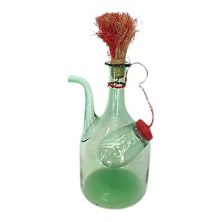 1950's Italian Ice Chamber Wine Decanter For Sale