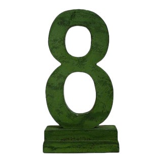 Number 8 Sign/Sculpture For Sale