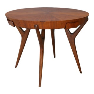 Table Midcentury Attribuite Ico Parisi in Mahogany and Veneer With Drawers, 1950 For Sale