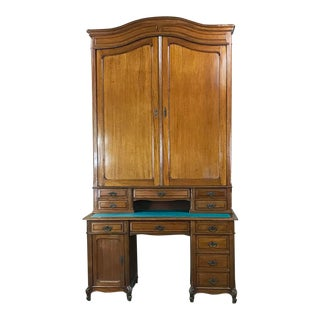Grand 19th Century Louis Philippe Walnut Desk With Bookcase For Sale