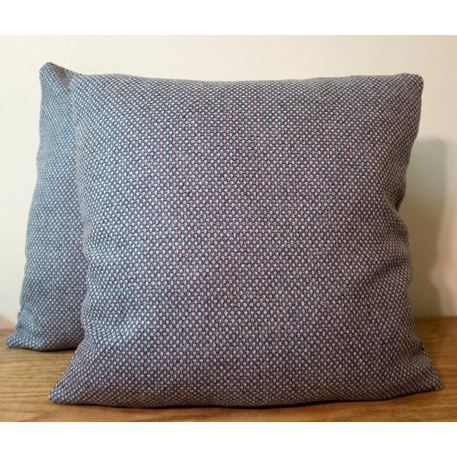 """A pair of custom designer 18""""x18"""" Osborne & Little pillow covers from their Nina Campbell collection in the pattern..."""