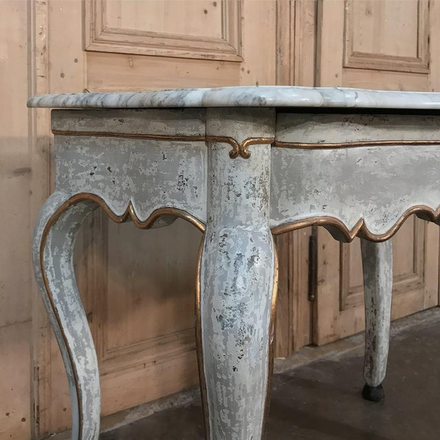 19th Century Swedish Painted Marble Top Console For Sale - Image 12 of 13