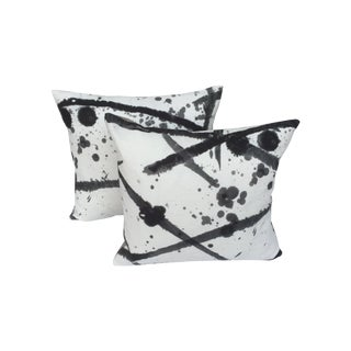 "Pierre Frey ""Leo"" Fabric Gray Pillows - A Pair For Sale"