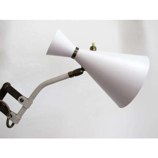 German White and Brass Scissor Lamp - Image 6 of 10