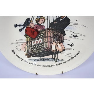 Boch Freres La Louviere Belgium Pottery Hot Air Balloon Decorative Wall Plate Preview