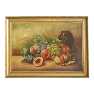 Antique Fruit Still Life Painting For Sale