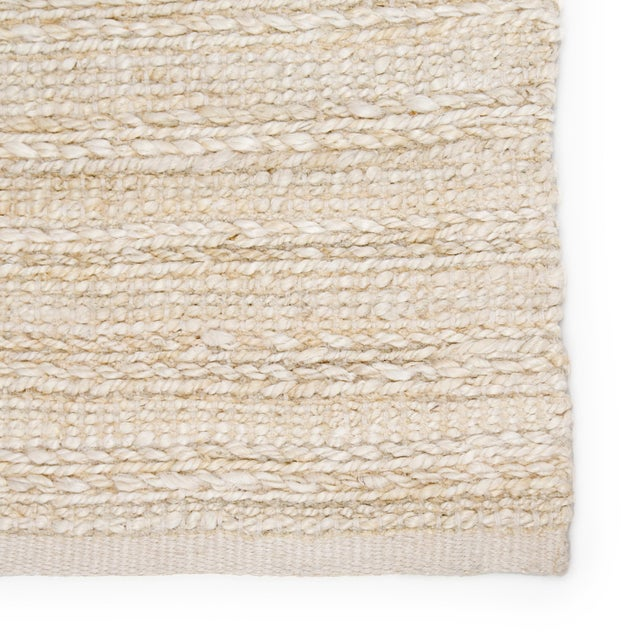 Contemporary Jaipur Living Canterbury Handmade Solid White/ Beige Area Rug - 2′6″ × 4′ For Sale - Image 3 of 6