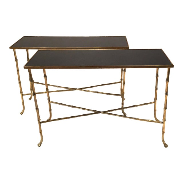 Pair Of Bamboo Tables - Image 1 of 5