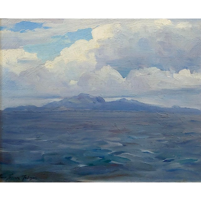 Cabin Frank Tenney Johnson -1920s View of the Salton Sea in the California Desert-Oil Painting For Sale - Image 3 of 9