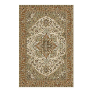 "Serapi Persian Orange Rug - 5'3"" x 7'4"""