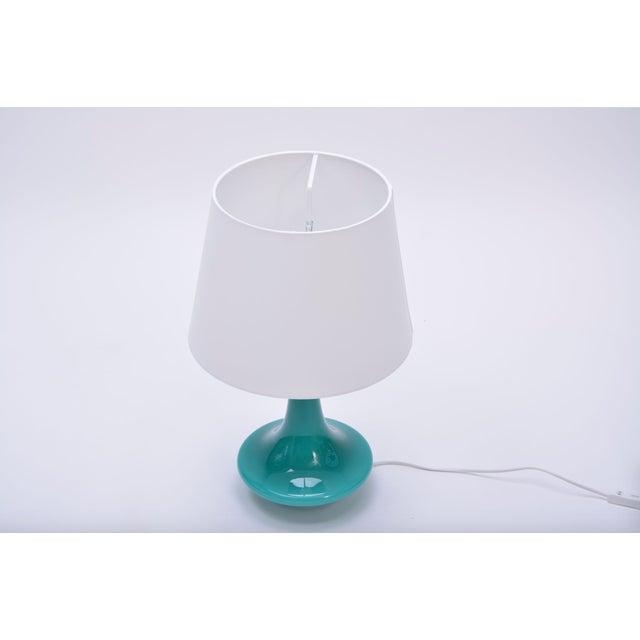 Le Klint Vintage Green Glass Table Lamp by Le Klint, 1960s For Sale - Image 4 of 5