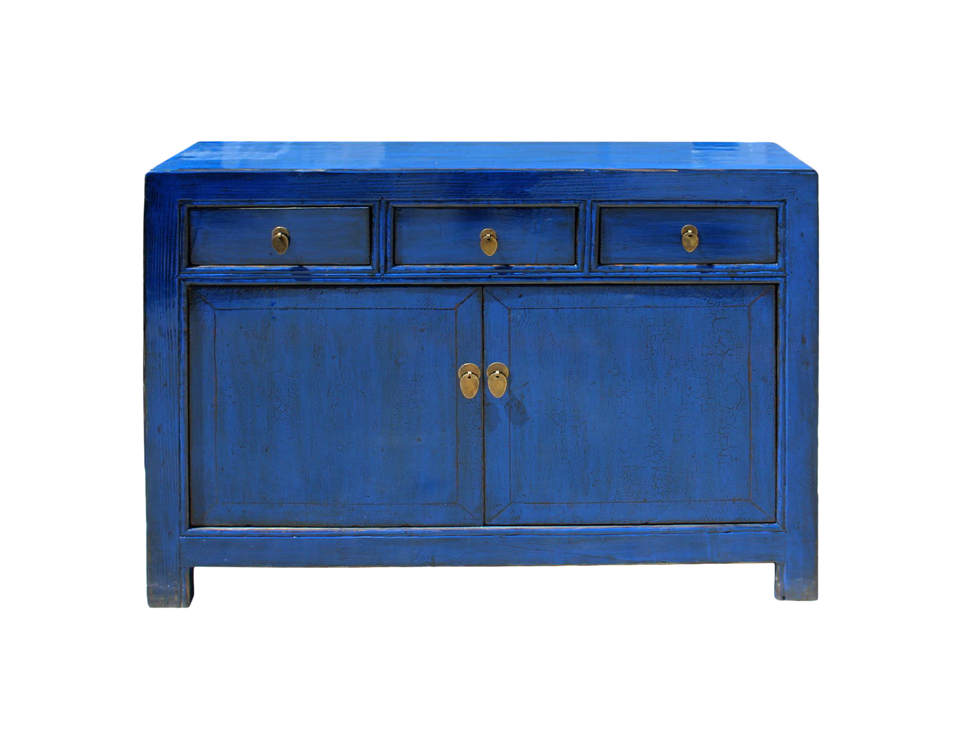 Delicieux Oriental Distressed Rustic Blue Credenza Sideboard Buffet Table Cabinet