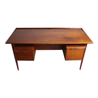 Peter Lovig Nielsen Danish Teak Floating Top Desk For Sale
