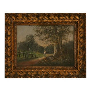 Wonderful Early 20th C. Oil on Canvas by Baldy For Sale