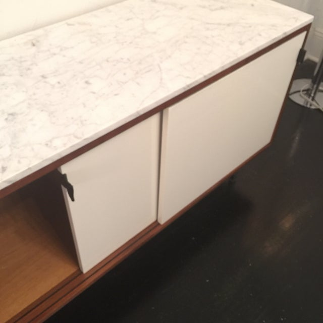 Florence Knoll Bianco Marble Top Credenza - Image 6 of 11