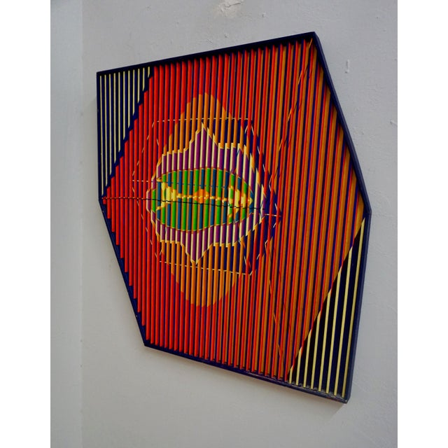 Abstract Painted Relief by Louis Nadalini For Sale - Image 4 of 6