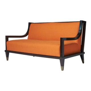 Mid-Century Modern Settee by Mito Block Brothers For Sale