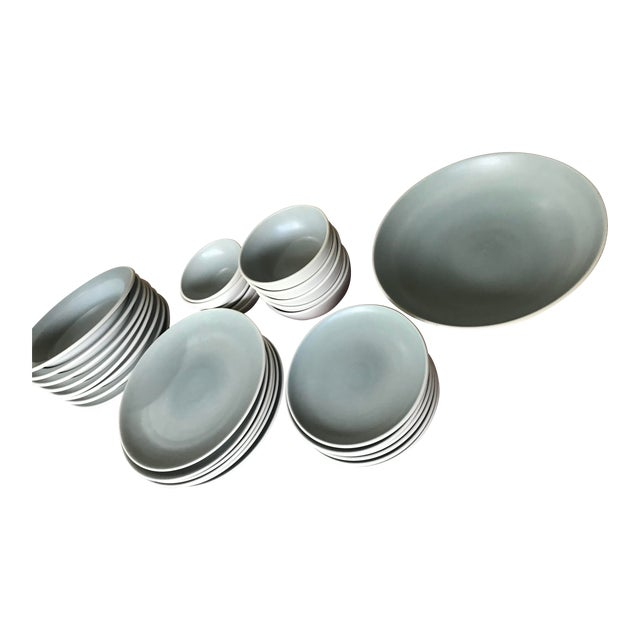 Heath Ceramics Plates and Bowls - Set of 33 For Sale
