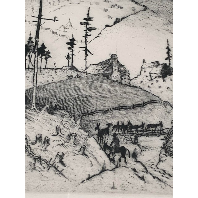 """""""Mountain Farms Near Spruce Pine, North Carolina"""" Etching by Harrison Cady For Sale - Image 9 of 13"""
