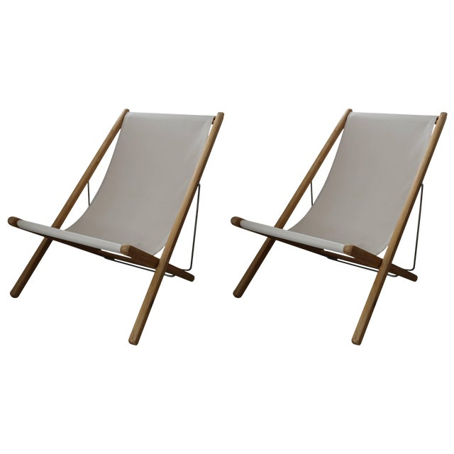 Gloster Modern Adjustable Teak Lounge Chairs - a Pair For Sale